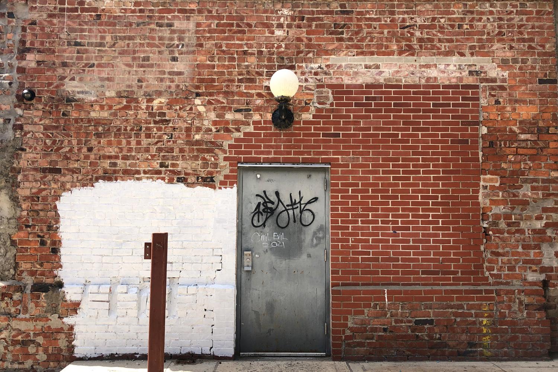 Brick exterior wall