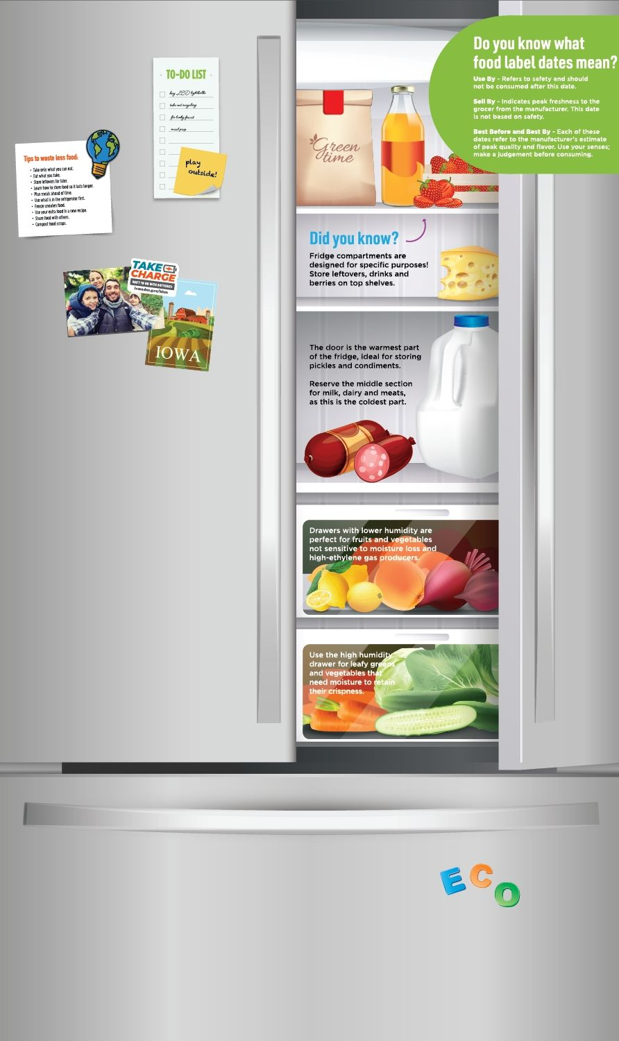 Graphic of fridge from Iowa Department of Natural Resource's trailer
